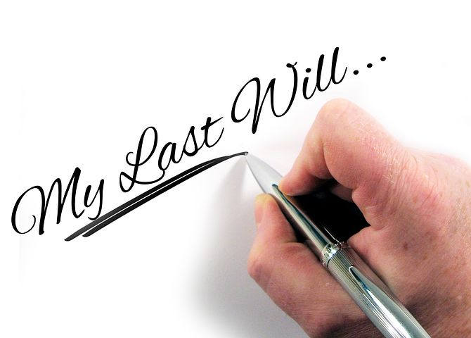 "pen marks ""My Last Will"" on a paper"