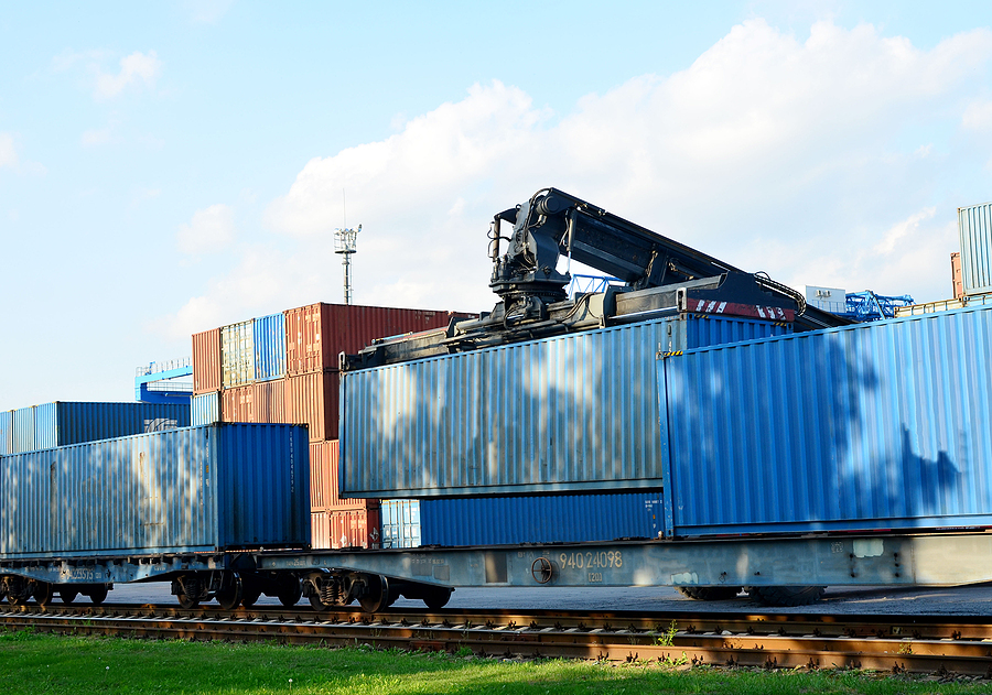 Shipping container unloading process